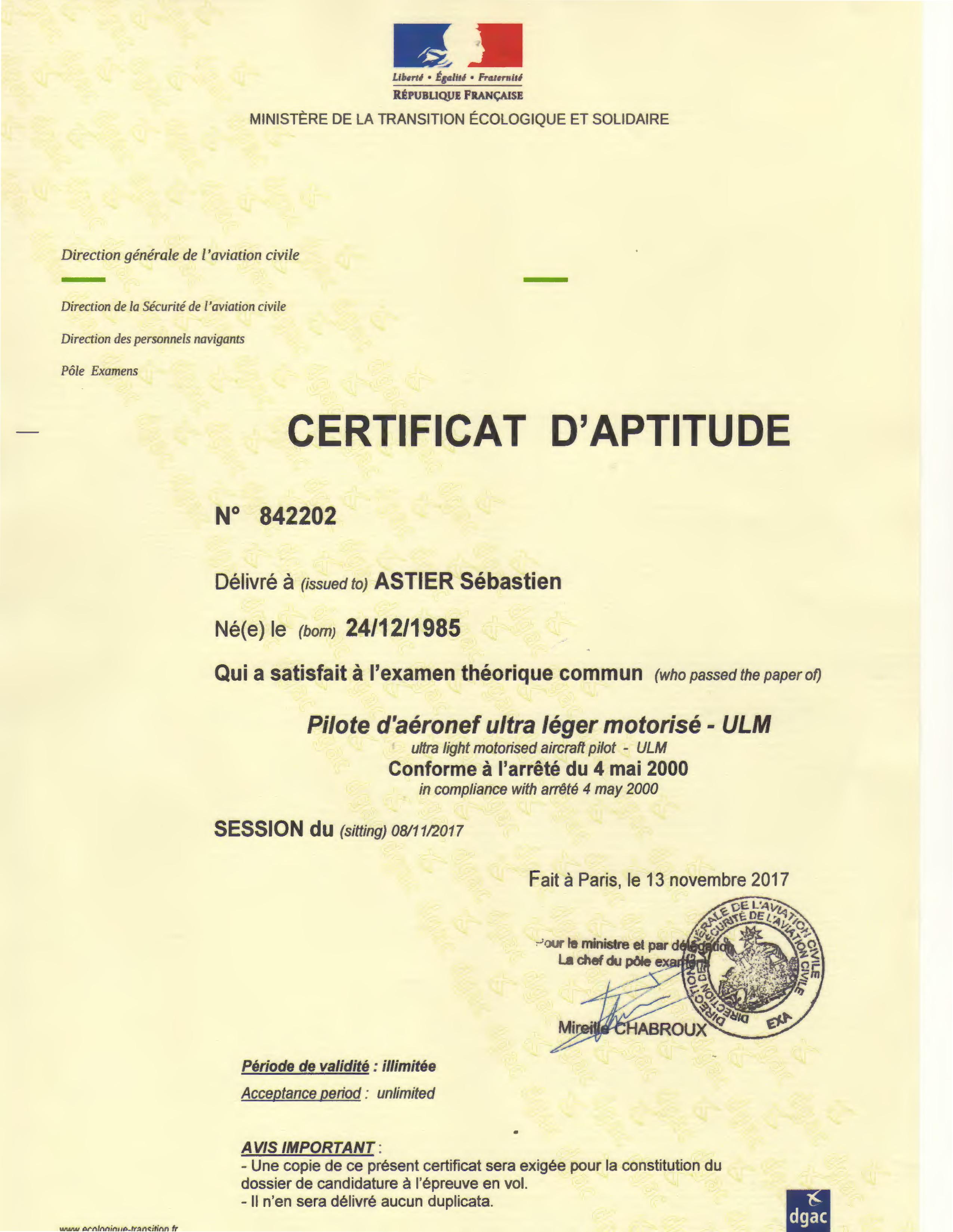 Certificat_Aptitude_BTULM_Sébastien_ASTIER
