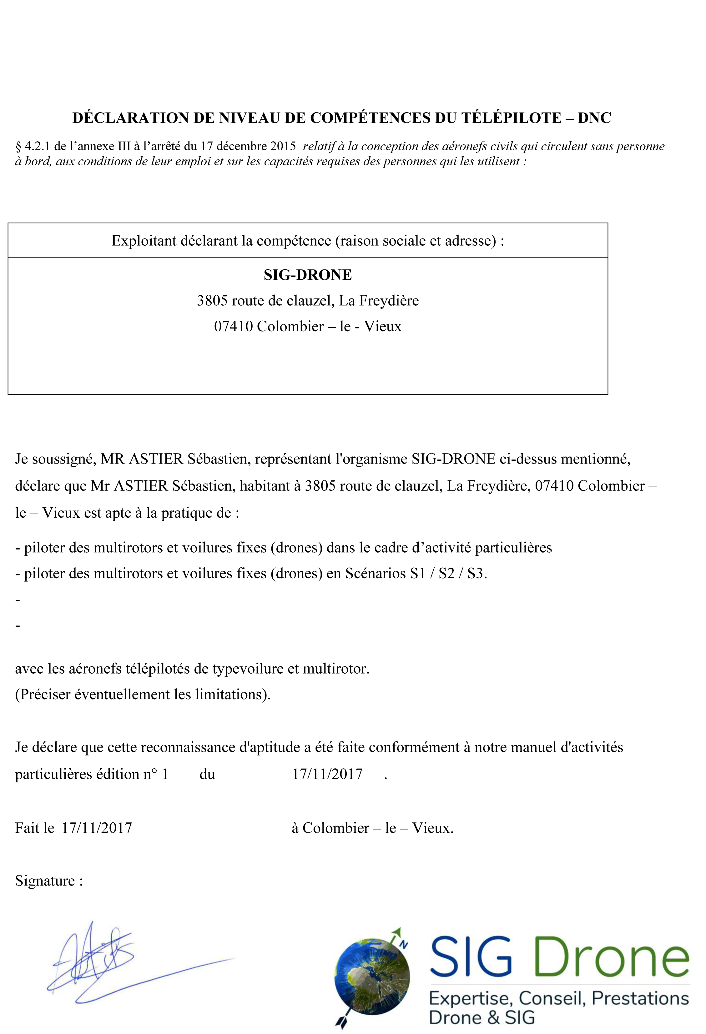 APPENDICE II-4 À L'ANNEXE RELATIVE AUX AÉRONEFS TÉLÉPILOTÉS : CA